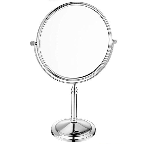 Makeup Mirror Doppelseitig Freistehend Kosmetik Spiegel 360 ° Drehung Vergrößert Bad Schlafzimmer Rasieren Eitelkeit Schminkspiegel Wenaqin,7X,8Inch -