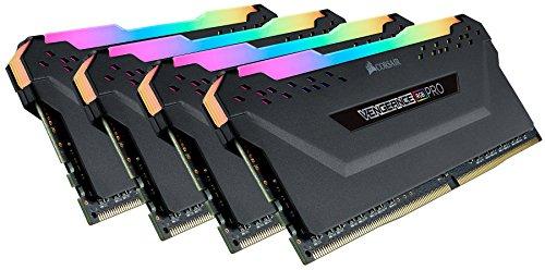 Corsair Vengeance RGB PRO Kit di Memoria Illuminato RGB LED Entusiasta 32 GB (4x8 GB), DDR4 3200 MHz, C14 XMP 2.0, Nero