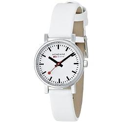 Mondaine Damen-Armbanduhr XS Evo Analog Quarz Leder A658.30301.11SBN
