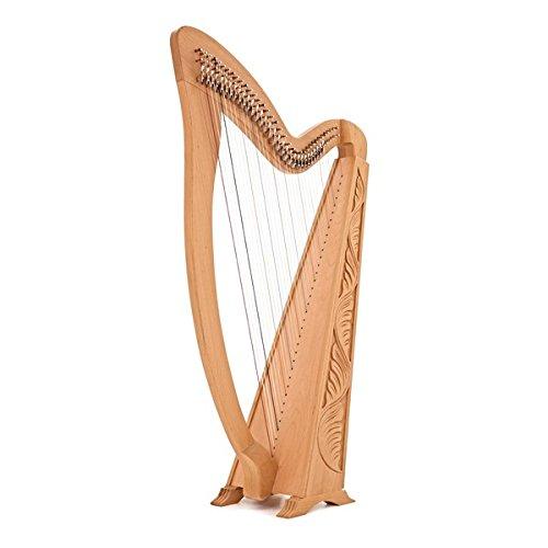 36-saitige Harfe mit Halbtonklappen von Gear4music
