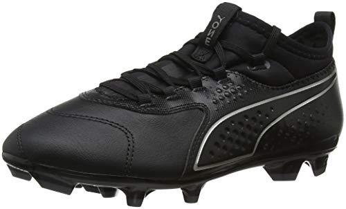 Puma One 3 Lth Fg Jr, Scarpe da Calcio Unisex – Bambini, Nero Black 02, 36 EU