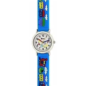 Boxx f1545.20–Montre de Poignet, Bracelet en Silicone Bleu