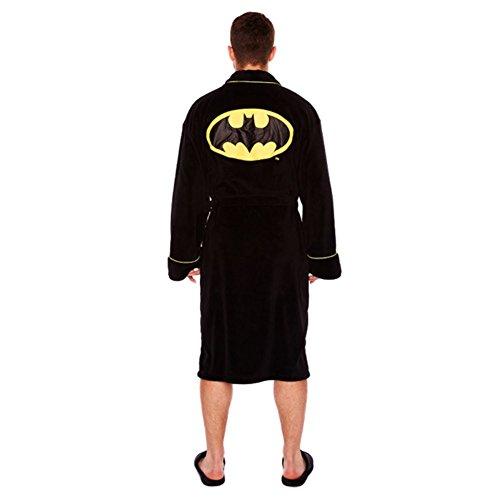 (Offizielle Batman Floureszierende Fleece Morgenmantel Bademantel)