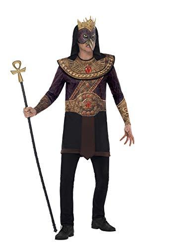 Smiffys 43731L - Horus Gott des Himmels Kostüm mit Sublimationsdruck Tunika Kragen und Mask