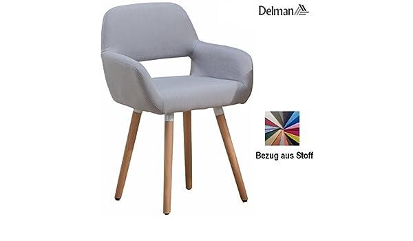 Delman 02-0016 Chaise de Salon en Tissu avec Housse en Tissu