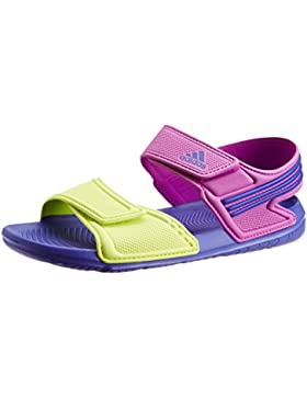 adidas , Mädchen Sandalen violett Flash Pink S15, Night Flash S15 and Semi Solar Yellow