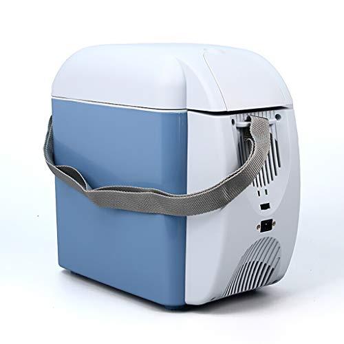 Car Refrigerator 7L Auto KüHlschrank Mini KüHlschrank Auto Dual-Use Tragbare Heizung Und KüHlung Box 12 V Auto Power + 220 V Haushaltsnetzteil