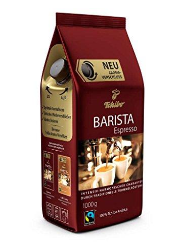 Tchibo Barista Espresso 1Kg ganze Bohne - Kaffee-Genuss für Vollautomaten, Siebträger