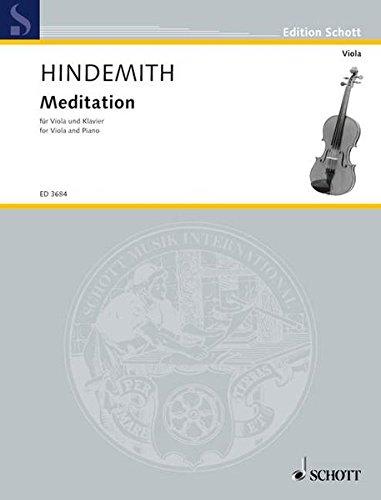 """Meditation: aus dem Tanzspiel """"Nobilissima Visione"""". Viola und Klavier. (Edition Schott)"""