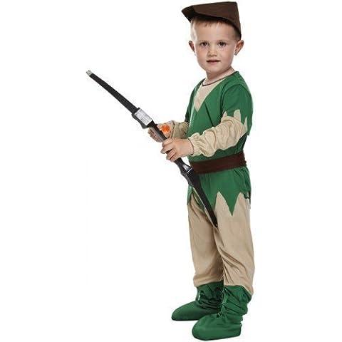 Disfraz de Robin Hood para niño niña niño medieval de día de libro de diseño de tamaño 3 años (4 teilig)