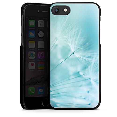 Apple iPhone 6 Tasche Hülle Flip Case Pusteblume Blau Blume Hard Case schwarz