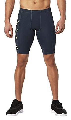 2x u Herren Core Compression Shorts, Herren, Ombre Blue/Gecko Glow, L