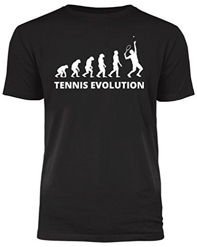 Tennis Evolution - Tennisspieler T-Shirt - ideal ALS Geschenk (L)