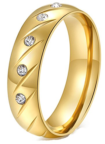 ngs gold plated rings for women (SIZE : 8) ()