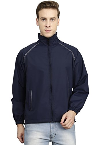 VERSATYL- 100% Water Proof Stylish Jacket Men & Women (Navy Blue, Medium)
