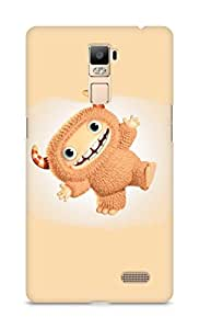 Amez designer printed 3d premium high quality back case cover for Oppo R7 Plus (Funny cute Monster)