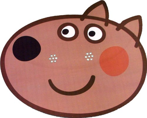 Kids Stars Peppa Pig - Danny Dog - Masque de Visage Fait en Carte Rigide