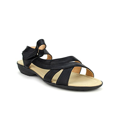Cendriyon, Sandale simili noir CINKS CONFORT Chaussures Femme Noir
