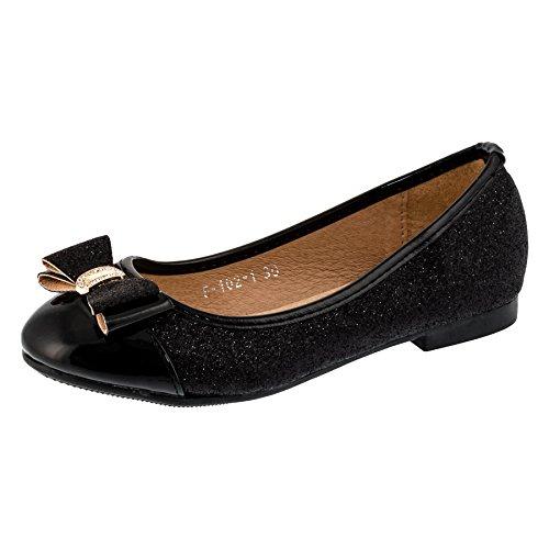"""Glitzer-Ballerina """"Julia """" edel mit Schleife! Schuhe fallen klein aus! Bitte 1 Nr. größer bestellen! Schwarz"""