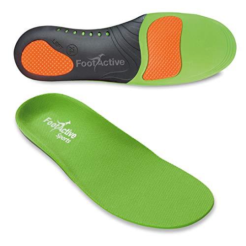 FootActive SPORT - Einlegesohlen für Sport, Freizeit und Beruf, Green, 46 - 48 (X-Large) (Tennis-marathon)