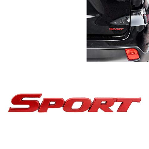 SENZEAL 1 Stücke 3D Metall Sport Auto Seitenfenster Kofferraum Emblem Abzeichen Aufkleber Logo für Universal Autos Motorrad Auto Styling Dekorative Zubehör