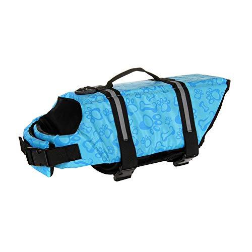 MISSMAO Schwimmmantel Hundeschwimmweste Schwimmweste Hunderettungsweste Rettungsweste Hundeweste Warnweste Dog Life Jacket Schwimmhilfe für Hunde Farbe 3 XS