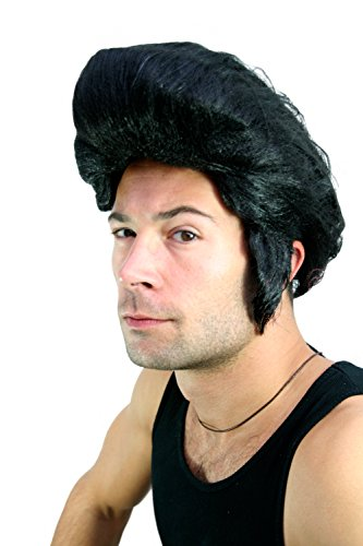 WIG ME UP ® - lm-706-P103 Perücke: Rockabilly Elvis Tolle Fonzie 60er (Perücken Elvis)