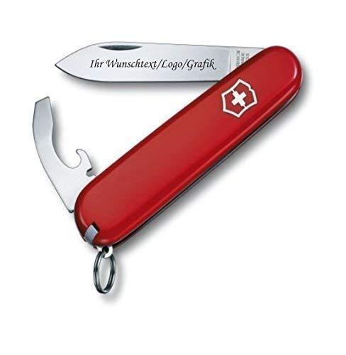 ORIGINAL Victorinox Couteaux de poche modèle Bantam avec personnels GRAVURE SUR lame gravé avec logo Motifs caractères ou graphique fin laser-gravure 0.2303