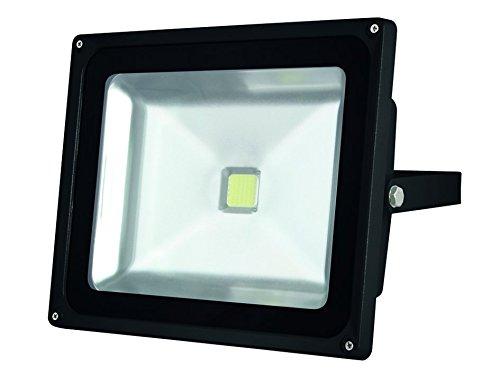 Perel Projecteur LED pour Les aussenbereich avec capteur PIR, 30 W Epistar Chip, 3000 K, 23 x 25 x 13,5 cm, Gris, leda3003ww de GP