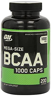 Optimum Nutrition 1000mg BCAA 1000 Caps 200 Capsules (Pack of 2) by OPTIG
