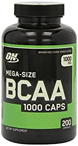 Optimum Nutrition 1000mg BCAA 1000 Caps 200 Capsules (Pack of 2)