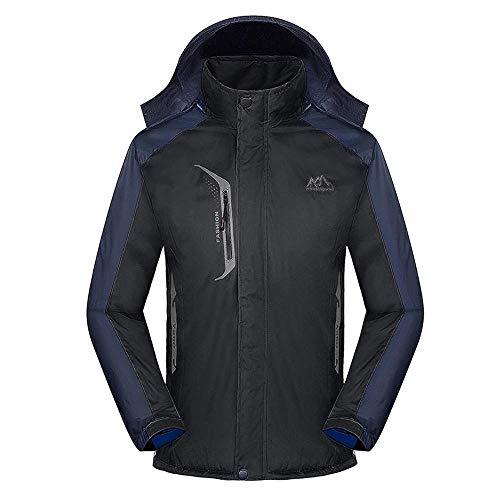 NINGSANJIN Herren Jorlanding Puffer Jacket (Schwarz,XL)