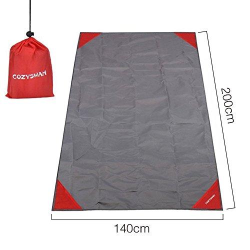 Cozyswan Wasserdichte Picknickdecke Outdoor Stranddecke Sand-Frei Matte Pocket Blanket für den Strand, Picknick, Camping, Outdoor Events Strandmatte 200 x 140cm XL