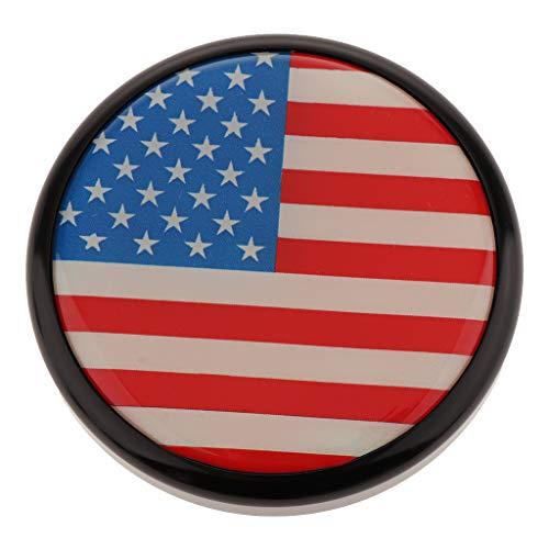 kesoto Tappo Serbatoio Carburante in Metallo Colorato in Metallo per Motocicli Universali, Bandiera Americana