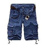 Photo de YACHAO,Shorts d'été Shorts de Loisirs Occasionnels pour Hommes Pantalons de Camouflage Militaires Courts d'été Genou Longs Shorts de Grande Taille Hommes par YACHAO