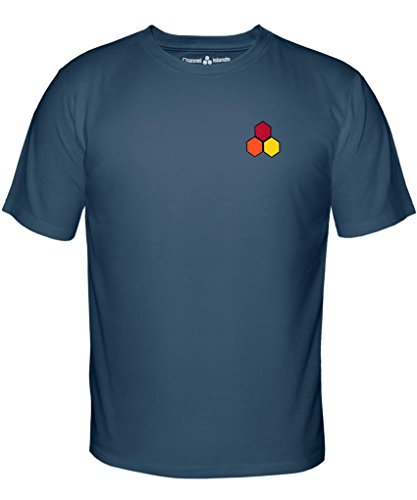 Channel Islands Surfbretter, wasserdicht Hex T-Shirt, indigo, klein (Surfboard Shirt S/s)