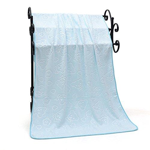 Yter asciugamano da bagno da bambino e neonato azienda coperta goffratura rapido assorbimento grande asciugamano celeste