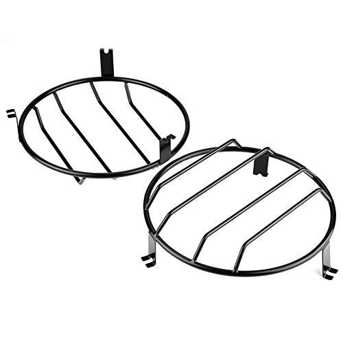 Outbit Scheinwerferabdeckung - 1 Paar Auto-Frontscheinwerfer Lampenschutzrahmenabdeckung Zierleiste für Lada NIVA.