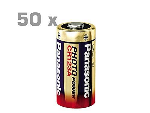 50 Stück PANASONIC Photo Lithium Batterie CR123 Photo Power Panasonic 50