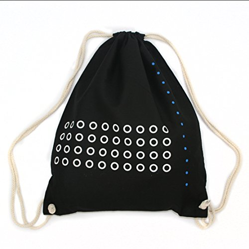Turnbeutel Geometrie, Hipster Beutel, Tragetasche, Gymsac, Stringbag, Drawstring, Jutebeutel, Tasche, Rucksack, Handsiebdruck, -