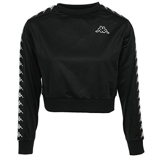Kappa 3031UV0, Women's Sweatshirt, Nero-Bianco, M...