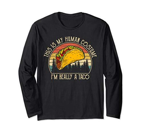 Mein menschliches Kostüm Ich bin wirklich ein Taco Vintage - Taco Mann Kostüm