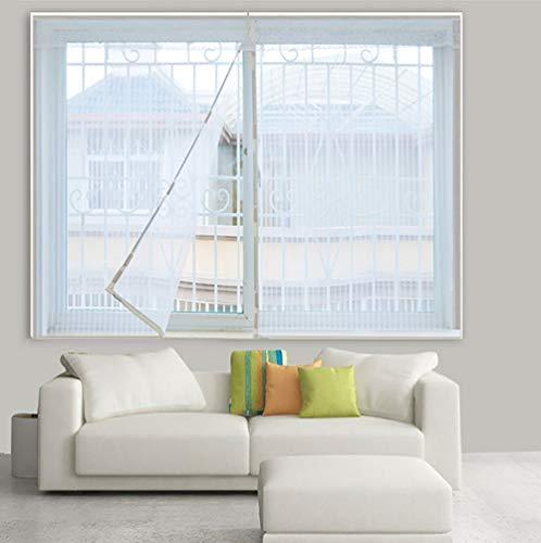 Ruber bianco zanzariera magnetica per finestre con calamita,tenda rete antizanzare per finestre,schermi fotogramma intero,anti-zanzara,50x140cm(20x55inch)