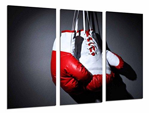 Poster Moderno Fotografico Deporte Boxeo, Guante Blanco y Rojo, Motivacion, 97 x 62 cm, ref. PST26786