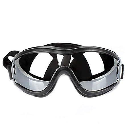 YONFAN Hunde Sonnenbrille UV Schutzbrille Hundebrille Windschutz für Kleine Mittlere Hunde, Welpen Schwarz