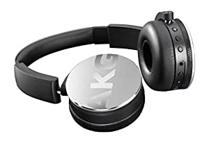 AKG Y50BT Portable Foldable On-Ear Rechargeable Bluetooth Headphones - Silver