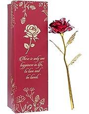 Next Bazaar Valentine Red & Golden Rose with Gift Box