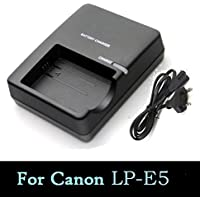 SHOPEE for Canon LP-E5 Battery Charger - for Canon EOS Rebel XS, Rebel T1i, Rebel XSi, 1000D, 500D, 450D, Kiss X3, Kiss X2, Kiss F, LC-E5, CBC-E5