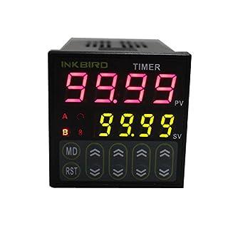 Inkbird Digitale Twin Relais Timer Schalter Zeitschalter Zeitschaltuhr Auslöser Relaisschalter, Zeitsteuerung 110-220V IDT-E2RH