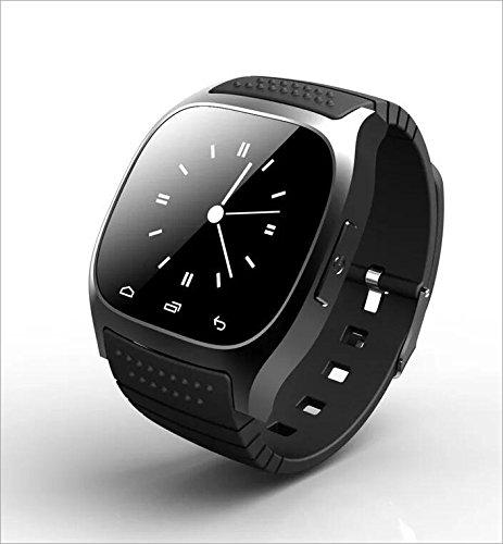 Human Smart Watch M26 Bluetooth Uhr Telefon Leben Wasserdicht,Black